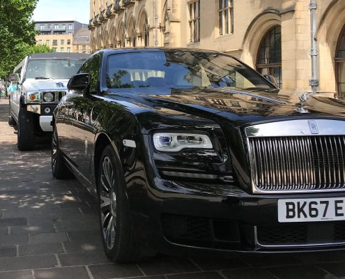 Hummer Limo and Rolls Royce Ghost Wedding Cars in Limo