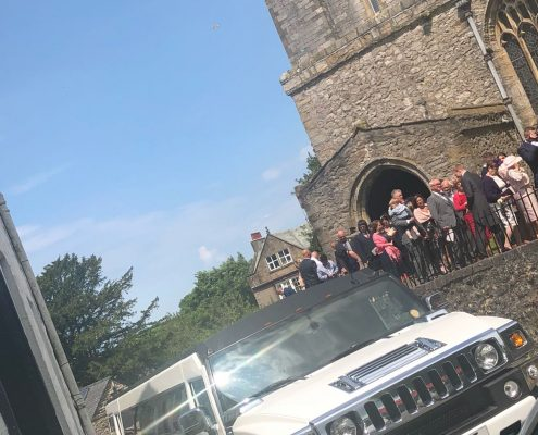 Hummer Limo for wedding in Cumbria