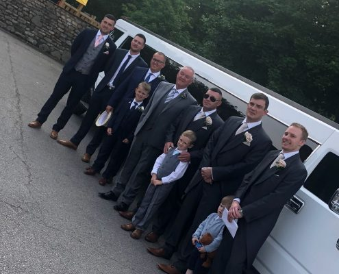 Groomsmen hummer limo hire